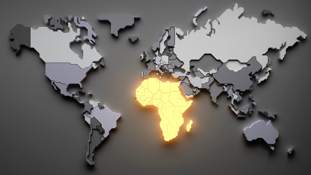 Africa highlighted.