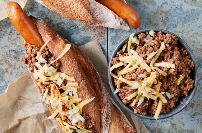 Cheese grillers topped with mince and cheese. (PHOTO: JACQUES STANDER)