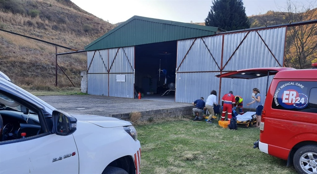 A dehydrated teen airlifted from Drakensberg Mountain.