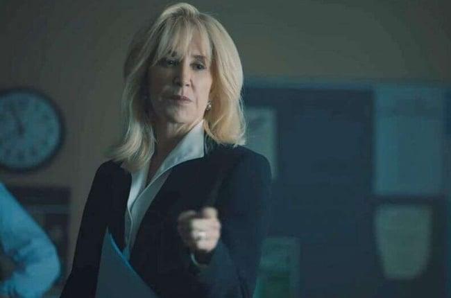 Felicity Huffman co-stars as Linda Fairstein.