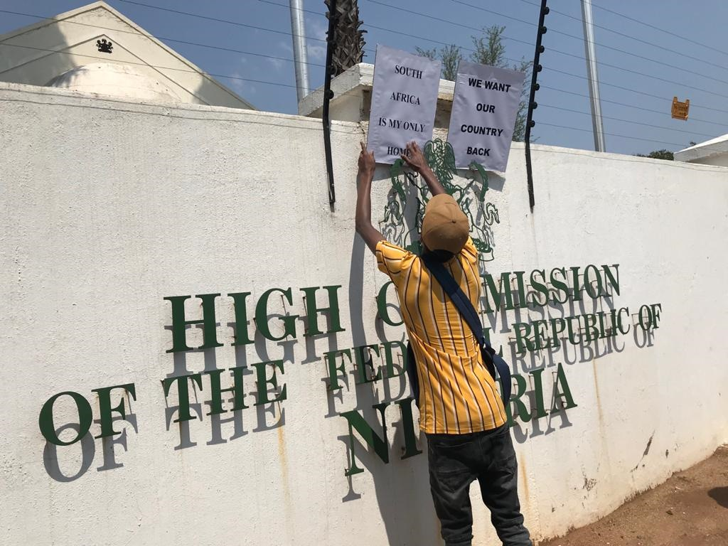 Protesters at Nigerian embassy call for foreign nationals to 'go back home' - News24