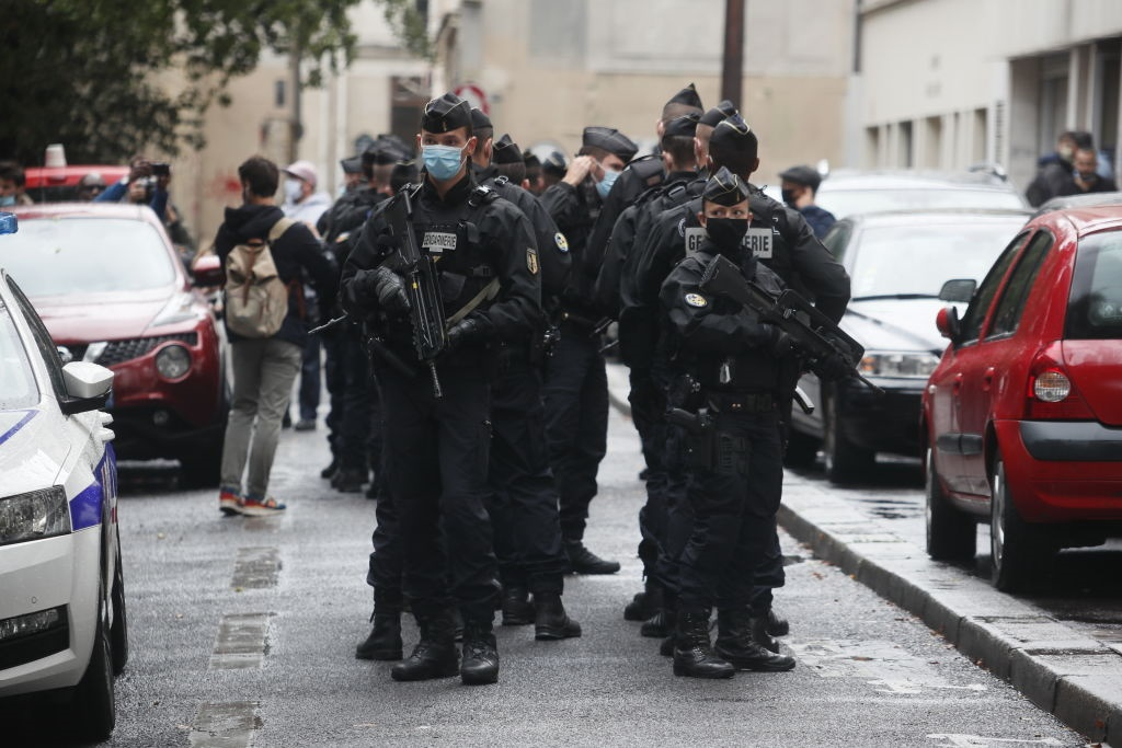 Four wounded in Paris knife attack near former Charlie Hebdo offices