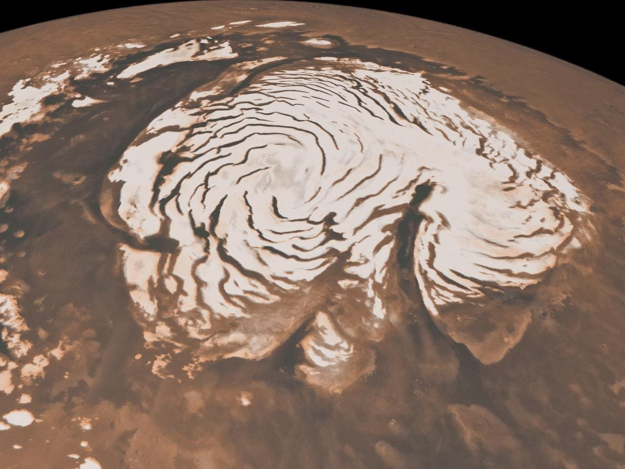 Scientists detected a set of salty lakes on Mars, hidden below south pole glaciers - Business Insider South Africa