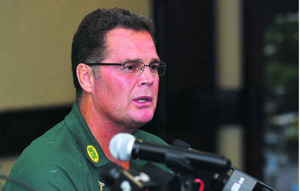 SA Rugby's director of rugby Rassie Erasmus remains in isolation and will continue to work remotely due to a pre-existing health condition.PHOTO: GETTY IMAGES