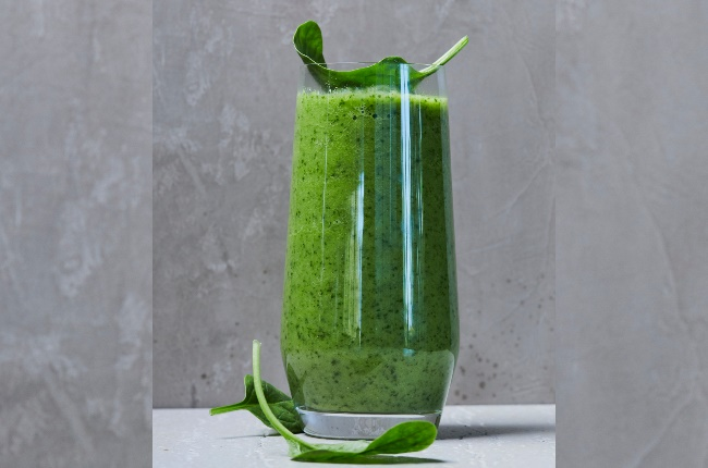 Green smoothie. (PHOTO: JACQUES STANDER)