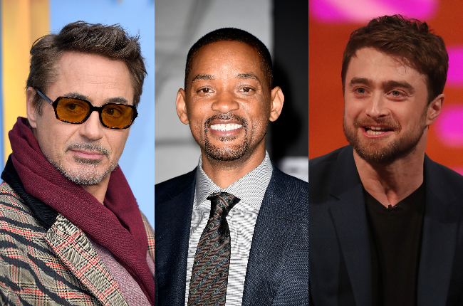 Robert Downey Jr. ,Will Smith and Daniel Radcliffe (Photos: Getty Images/Gallo Images)