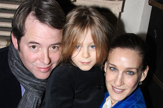 Matthew Broderick and Sarah Jessica Parker with their son James Wilkie