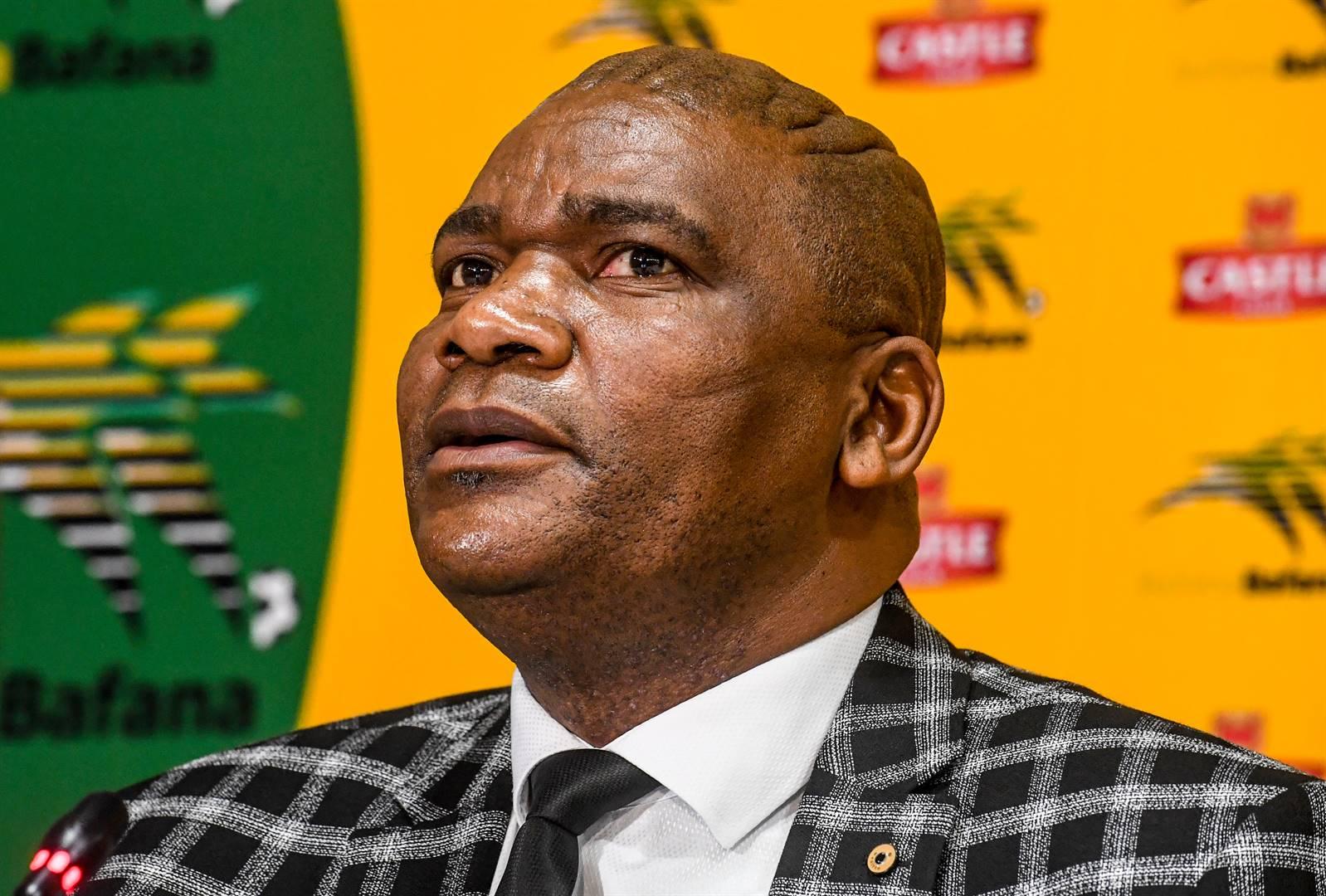Bafana coach Molefi Ntseki during the squad announcement at Safa House on Friday. Picture: Sydney Seshibedi / Gallo Images