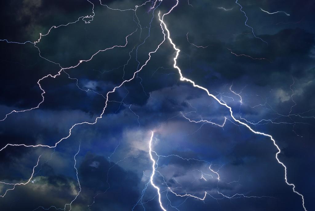 Two people were struck by lightning in Gauteng.