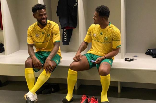 Thulani Hlatshwayo and Kermit Erasmus (Image courtesy from official SAFA website)