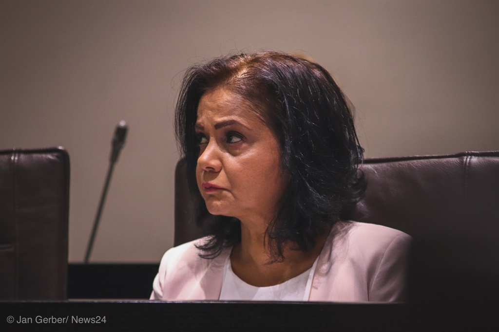 NDPP Shamila Batohi at a meeting of the Portfolio Commitee on Justice in March 2020.
