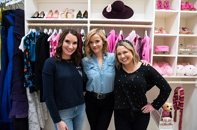 Clea Shearer, Reese Witherspoon and Joanna Teplin in Get Organised with The Home Edit.