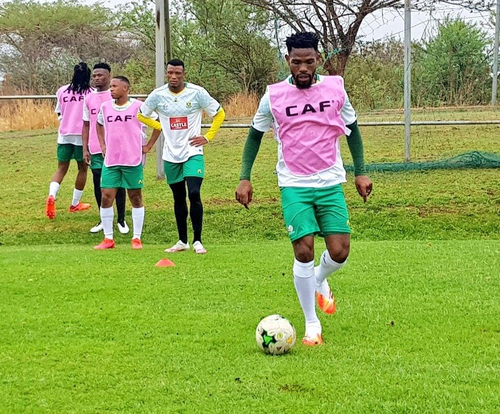 Bafana Bafana captain Thulani Hlatshwayo during the team's training camp in Rustenburg. Picture: Safa Twitter