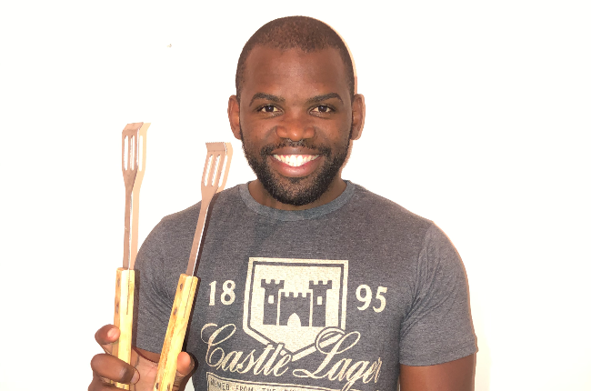 Siv Ngesi is the host of a new braai show that sees some of SA's most-loved sportsmen go head-to-head over the grill. (Photo: Supplied)