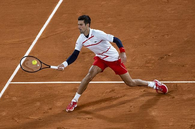 Novak Djokovic at the 2020 French Open.