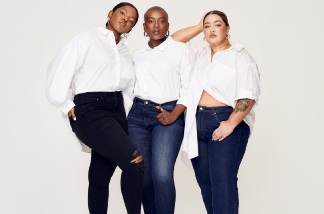 H&M Curvy Fit denim campaign. Styled by Bee Diamondhead and photographed by Tatenda Chidora. Image supplied by H&M South Africa