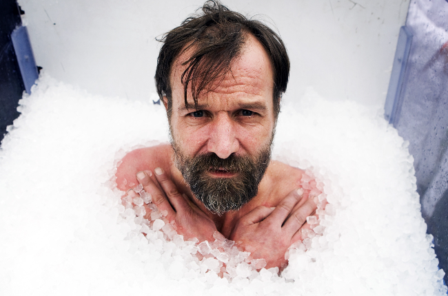 Wim Hof spends 61 minutes a day in an ice bath. He believes that this helps him ward off illness and depression.  (Photo: Getty Images/Gallo Images)
