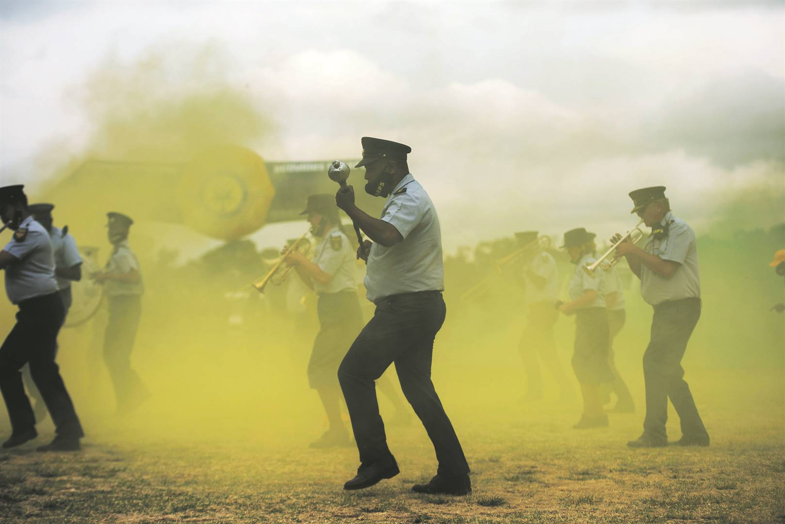 Members of the SA Police Service heeded the president's call with a performance for the #JerusalemaDanceChallenge during the annual National Police Prayer Day at the SAPS Academy in Pretoria last week. The hit song Jerusalema continues to trend globally. Picture: Alet Pretorius / Gallo Images