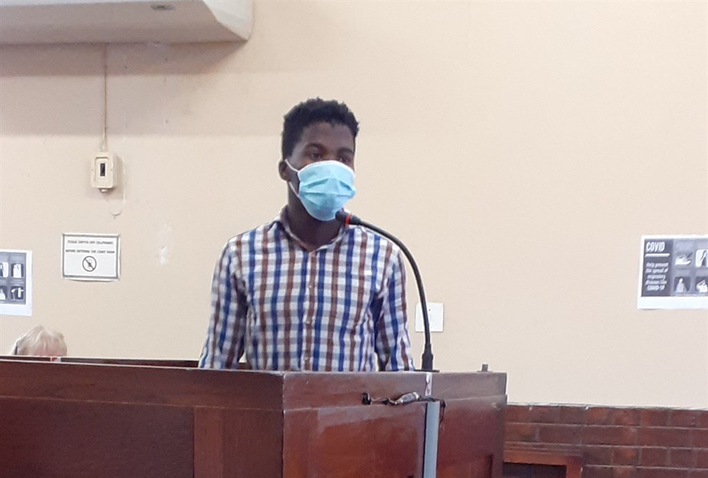 Doctor Vukani Ngwenya, 20, appeared in court for the double murder of Glen and Vida Rafferty in Normandien.