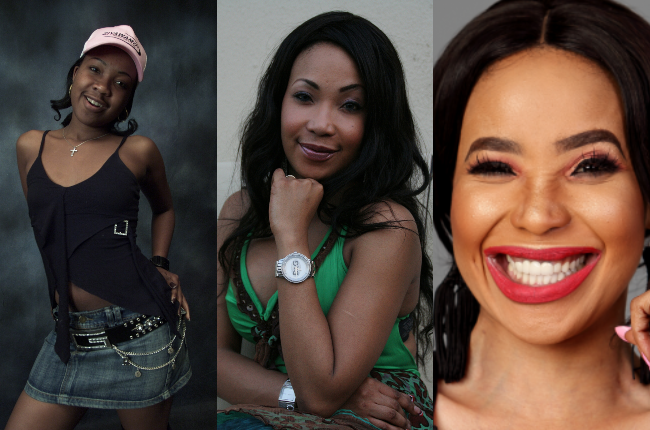 Mshoza's transformation over the past 15 years.