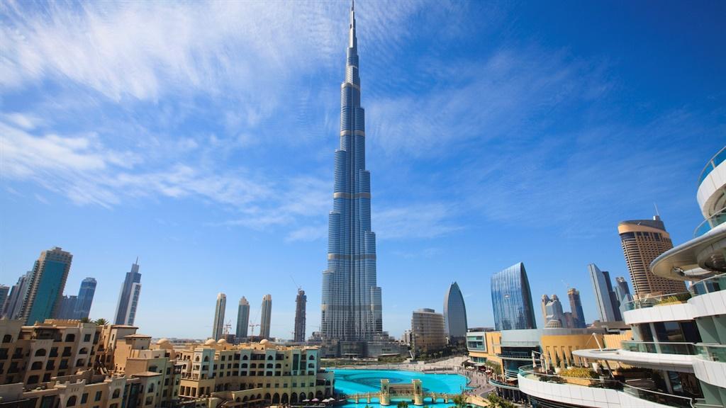 The Burj Khalifa in Dubai.