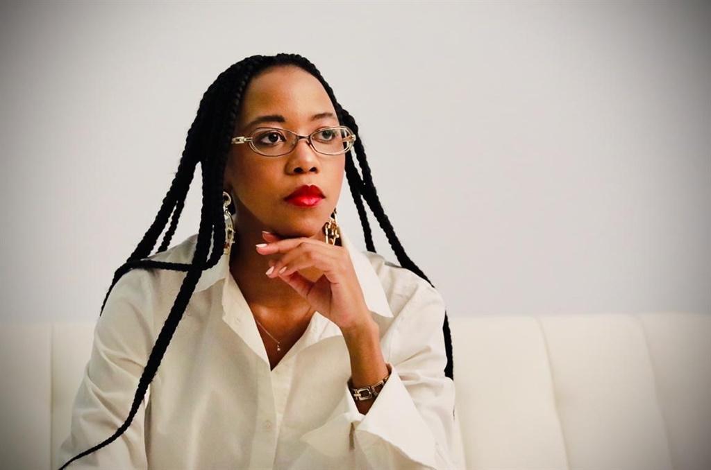 Afika Jadezweni wearing the M.A.C Studio Fix foundation. (Photographer: Sebabatso Mosamo)