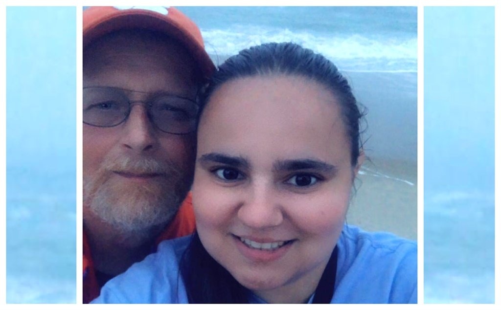 Anda Melton with her 58-year-old boyfriend, Robert Pittman. Photo courtesy Caters News