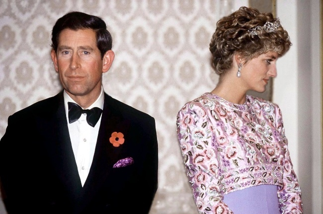 Prince Charles and Princess Diana appear tense dur