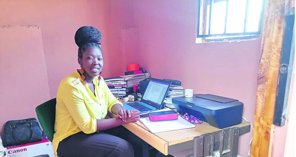 Rev Anita Pamla is sitting in her office at Woodby in Brown's Farm.PHOTO: UNATHI OBOSE