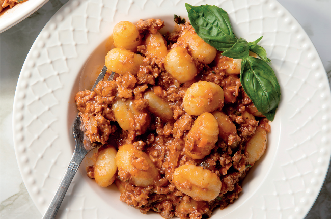 This delicious Gnocchi Bolognese recipe is sure to become a family favourite.