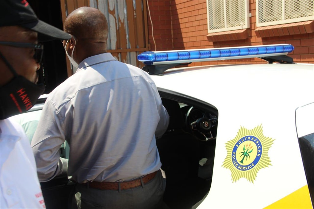 Mayor Kgotso Khumalo was arrested early on Friday, together with a director at the municipality, Cyril Henry, who is a former acting municipal manager at JB Marks. Pictures: Supplied