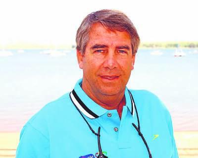 Seals' veteran coach and race director, Wayne Riddin.
