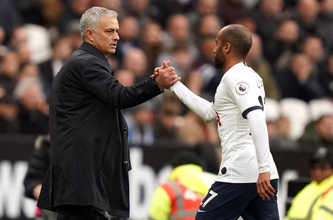 Jose Mourinho and Lucas Moura (Getty Images)