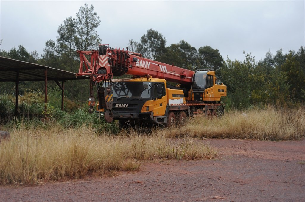 A SANY mobile crane has been lying idle onsite since October 2014. Picture: Supplied