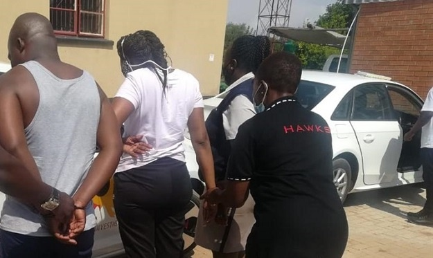 Three Home Affairs officials, aged between 30 and 42, were nabbed for corruption in a sting operation in Jane Furse.