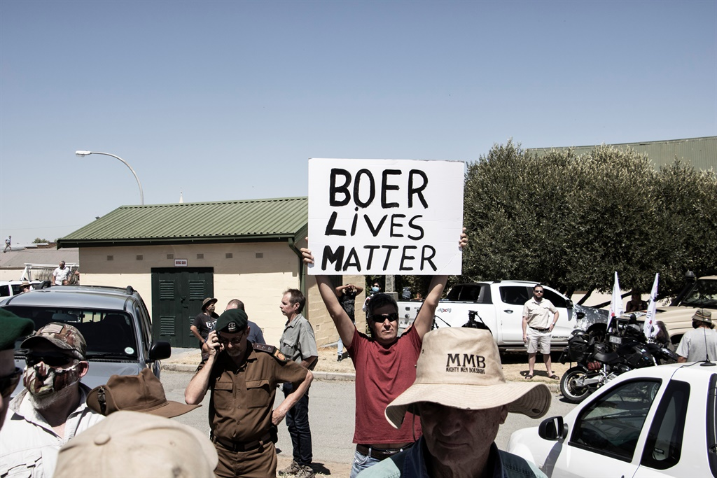 A group of protesters gathered in Senekal on 16 October, where the two men accused of killing Brendin Horner appeared in the local Magistrate's Court for a second time.