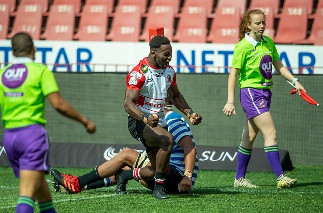 Ngia Selengbe of the Lions during the SA Rugby U/21 Championship match between Xerox Lions and DHL Western Province at Emirates Airline Park on October 25, 2020 in Johannesburg, South Africa. (Photo by Anton Geyser/Gallo Images)