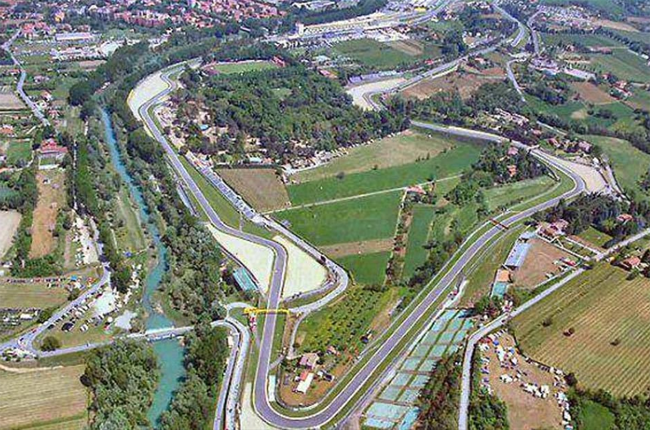 The Imola race track in Italy (recta_finalf1 / Instagram)