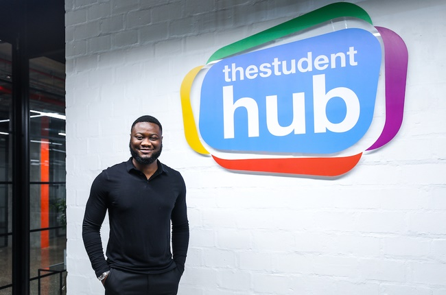 Founder and CEO of The Student Hub, Hertzy Kabeya, talks partnering with Naspers Foundry. (Image: Supplied)
