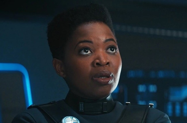 Phumzile Sitole as Captain Ndoye in Star Trek: Discovery.