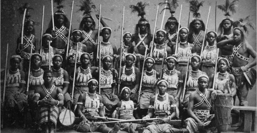 In addition to bridging generational linguistic gaps, the Setswana dictionary was inspired by African manifestations of feminism like those portrayed by West African femme warriors: the Dahomey Amazons. (Wikimedia Commons)