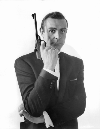 Sean Connery as James Bond, his most famous role.