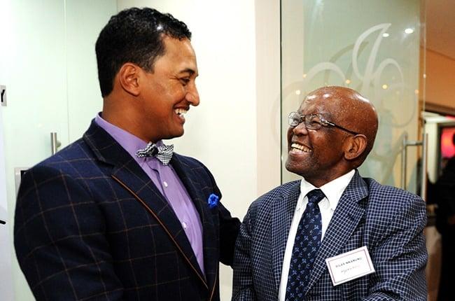 Breyton Paulse and  former SARU President, Silas Nkanunu.