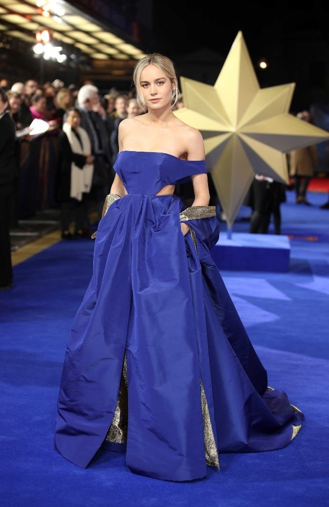 At the Captain Marvel European Gala in London in 2