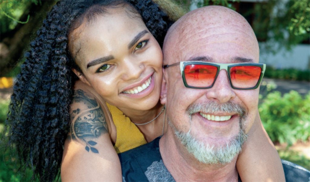 Eleven years after retail manager Rosa Onious and one of SA's most famous TV villains, Jamie Bartlett, first met, the stars aligned for them to be together and Jamie is smitten. (Photo: Papi Morake)
