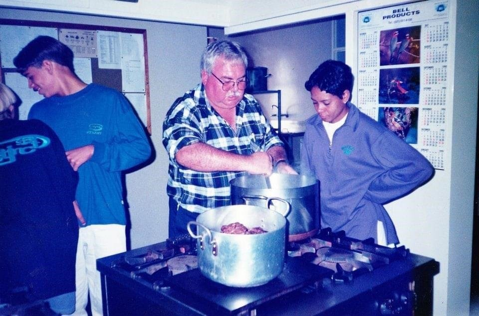 The author at a Brackenfell High School sport camp in 1996.