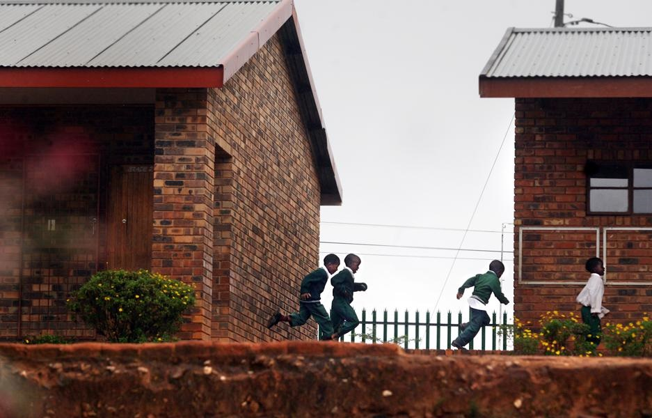 Dilayi Primary School in Bushbuckridge, Mpumalanga,  where learners run to classrooms during school hours. Picture: Leon Sadiki/City Press