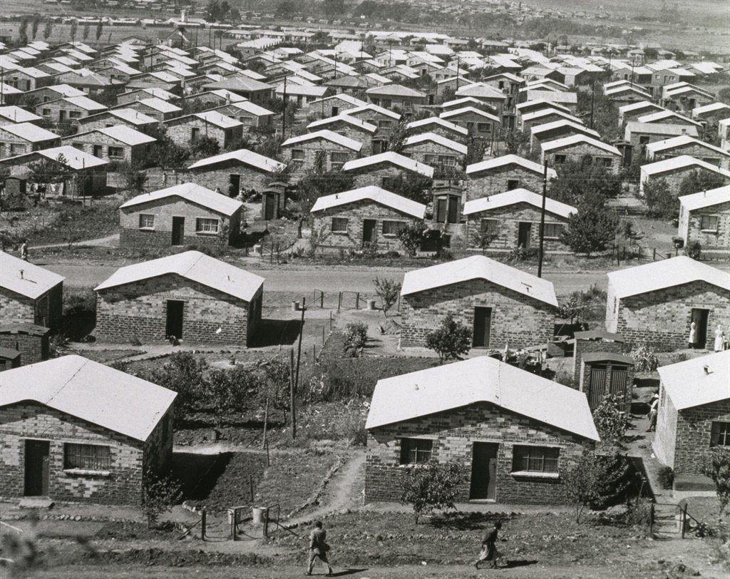 Houses in Orlando, a township in Soweto, Johannesburg, South Africa, during the era of apartheid, circa 1960.  (Photo by Archive Photos/Getty Images)