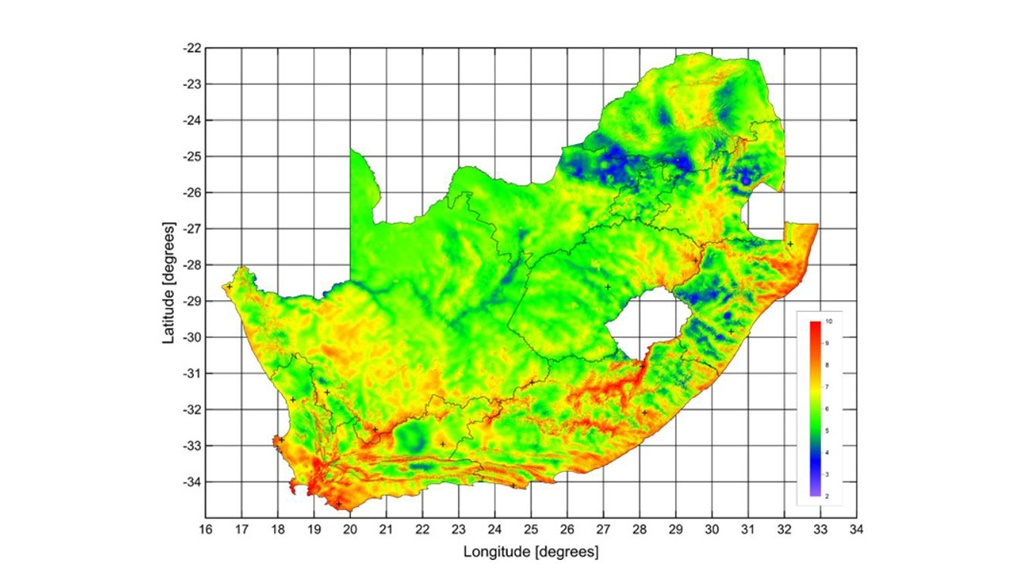 wind map south africa