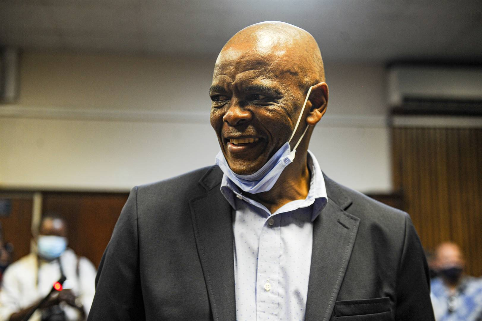 ANC secretary-general Ace Magashule appears on Friday at the Bloemfontein Magistrate's Court. Picture: Rosetta Msimango